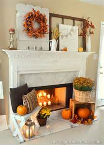 How To Decorate Your Home For Fall Fall Fireplace Mantel On Fall Fireplace Fall