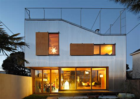 corrugated house designs cool french house with corrugated aluminium facade and