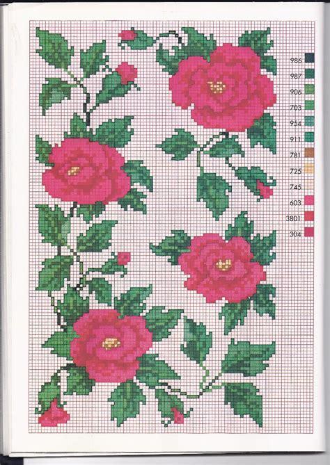 schemi punto croce gratis fiori rosse sbocciate schemi punto croce gratuiti