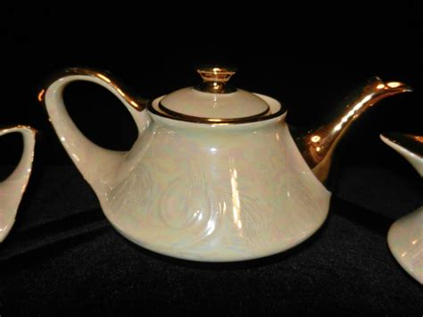 teapot ls for sale vintage pearl china co hand decorated 22 kt gold tea set