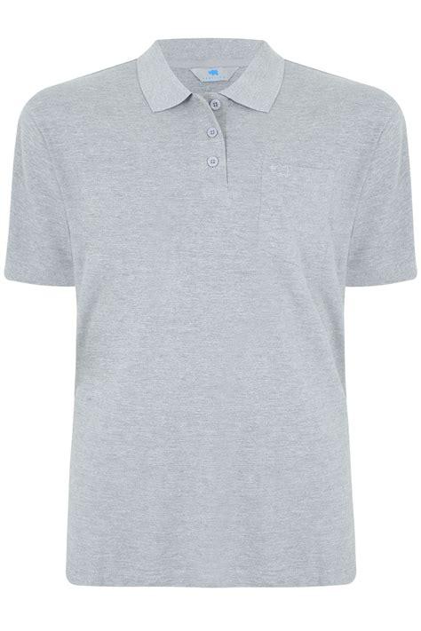 polo shirt light grey badrhino light grey marl plain polo shirt