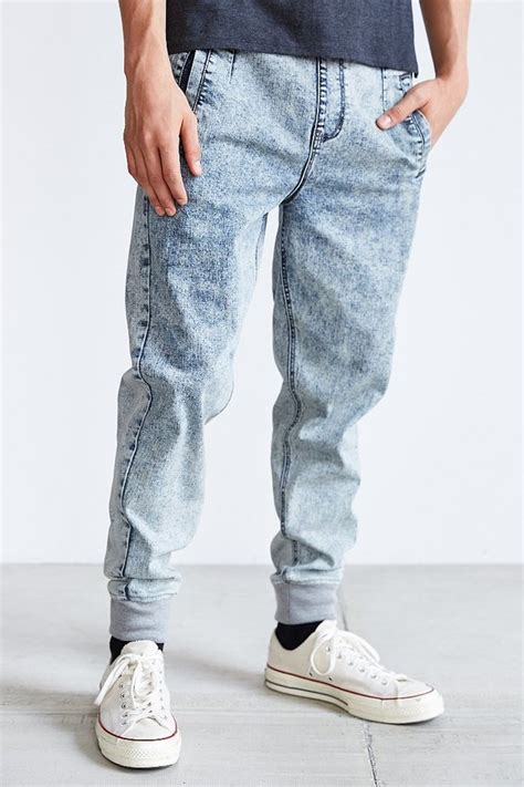 Ziya Jogger Pant Acid Joger Blue Jean outfitters youth acid wash denim slim fit jogger pant where to buy how to wear