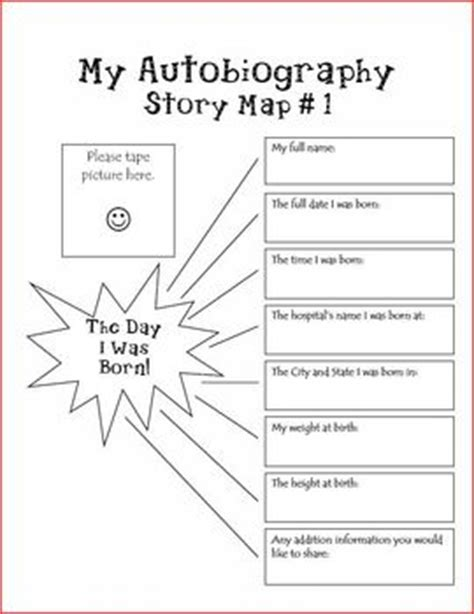 biography activities for elementary students autobiography unit keepsakes parents and activities