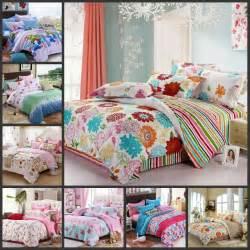 Flowers teen girls bedding sets 4pcs full queen size children bed set