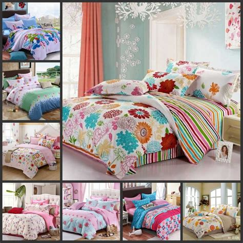 kids full size bedding various colorful beautiful flowers teen girls bedding sets