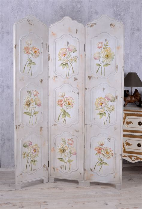 shabby chic room dividers paravent shaby chic room divider roses wall