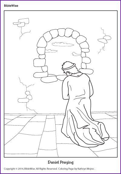 Daniel 6 Coloring Pages by Coloring Daniel Praying Korner Biblewise