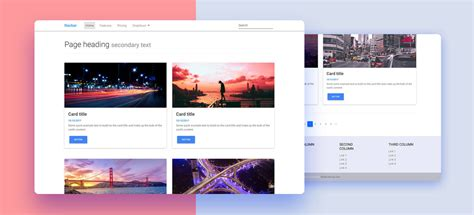 bootstrap themes two columns 2 columns listing template material design for bootstrap