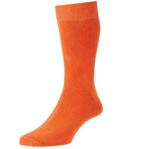 socks plain orange s socks by hj from ties planet uk