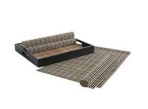 set de table en bois set de table bois naturel noir unique pas cher set de