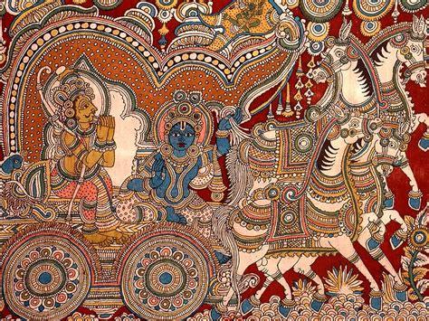 indian pattern artist kalamkari