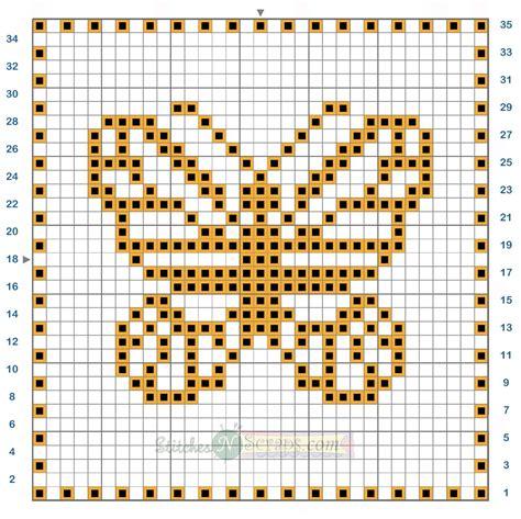 butterfly knitting chart free pattern filet crochet butterfly motif chart