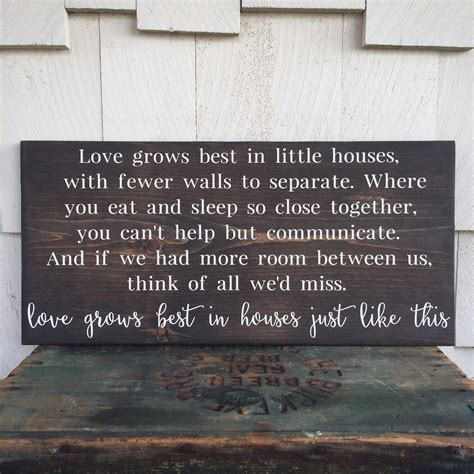 Grows Best In Houses Pillow by Grows Best In Houses Wood Sign Houses Just Like