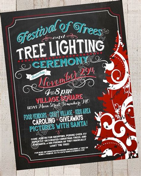 28 Best Images About Christmas Flyers On Pinterest Tree Lighting Flyer Template