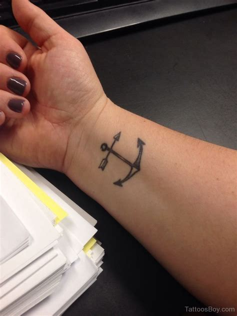 tattoo anchor wrist arrow tattoos designs pictures page 10