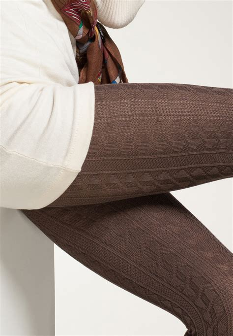 patterned tights brown brown tights with pattern miss gammelholm