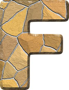 Home Wall presentation alphabets stone wall letter f