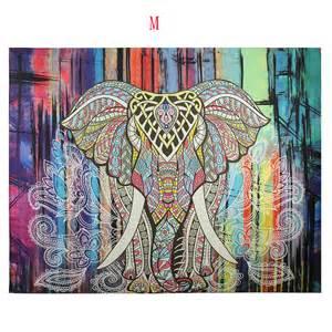 Hippie Home Decor Uk Indian Mandala Tapestry Hippie Wall Hanging Elephant Bohemian Bedspread Decor Ebay