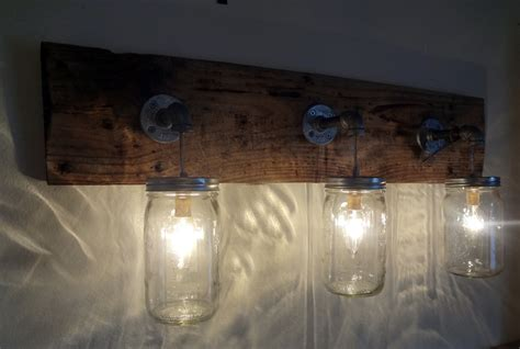 mason jar bathroom light mason jar hanging light fixture rustic reclaimed barn wood