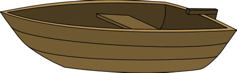 cartoon boat brown row boat clipart cartoon pencil and in color row boat