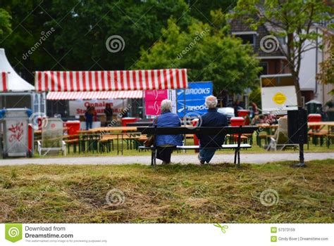 bench couple watch elderly couple on bench editorial stock image image 57373159