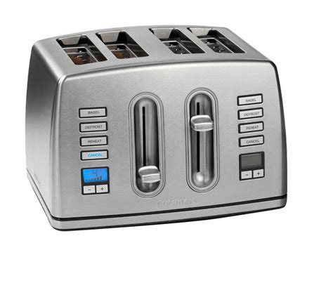 Cuisinart 4 Slice Stainless Steel Toaster buy cuisinart cpt445u 4 slice toaster stainless steel free delivery currys