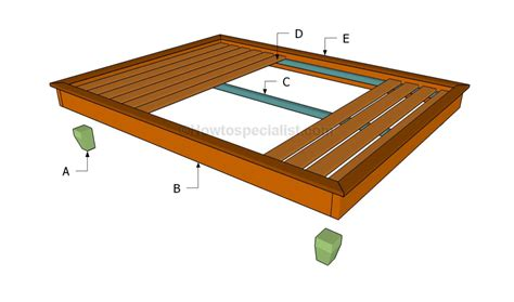 how to build a simple bed frame howtospecialist how to build step by step diy plans