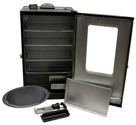 40 quot big electric meat smoker digital temp control stainless steel door