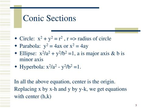 Conic Sections Ellipse Ppt by Ppt Basics Of Analytical Geometry Powerpoint