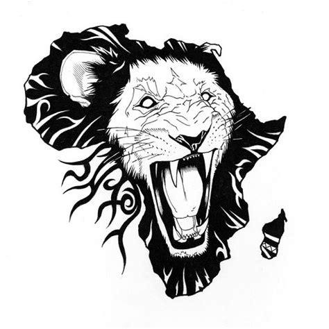 africa tattoo design of a lion