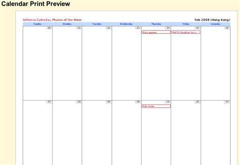 Customizable Calendar Templates by Customizable Calendars Print Blank Calendars