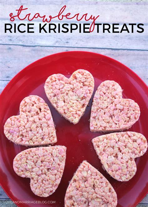 valentines day rice krispie treats strawberry rice krispie treats