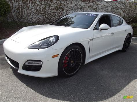 White Porsche Panamera Turbo by Carrara White 2011 Porsche Panamera Turbo Exterior Photo
