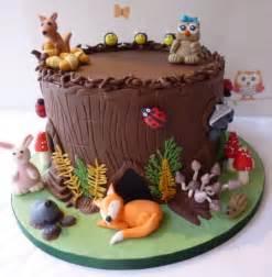 woodland creatures cake by caroline s cake co cakesdecor
