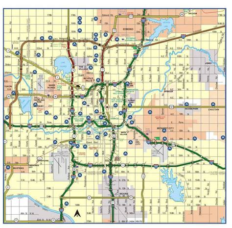 okc map oklahoma city ok pictures posters news and on your pursuit hobbies interests and
