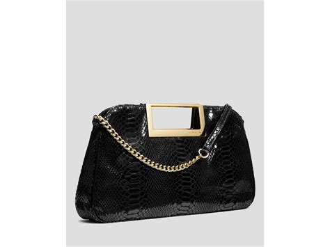 Michael By Michael Kors Ranger Patent Bag by Lyst Michael Michael Kors Clutch Berkley Patent Python