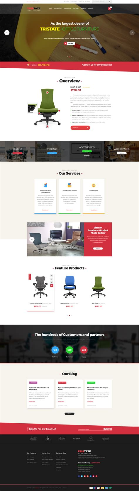 wordpress themes free office tristate office furniture woocommerce wordpress theme by