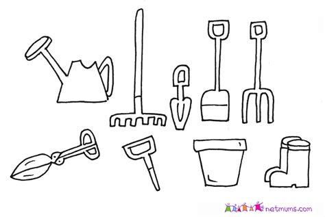 coloring page garden tools 10 images of garden shovel coloring page garden tools