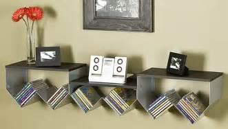 trendy and modern zig zag wall mount media shelf hometone