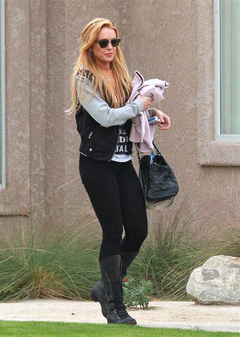 Lindsay Was Out Of by Lindsay Lohan Was Spotted Stepping Out Of Sober Living