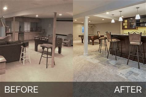 before and after basement brett carolyn s basement before after pictures home remodeling contractors sebring services