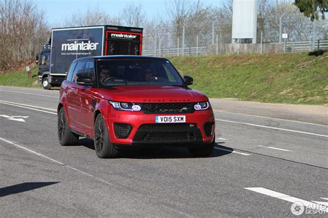 orange range rover svr land rover range rover sport svr 13 april 2016 autogespot