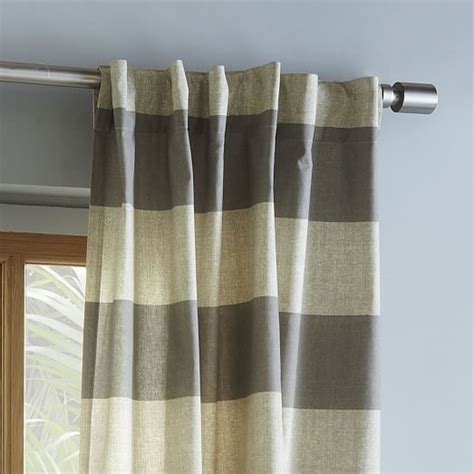 bold striped curtains cotton canvas bold stripe curtain plaster west elm
