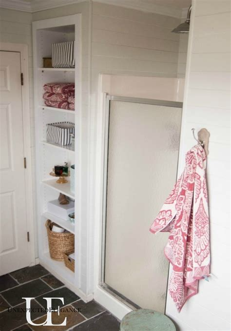 built in shelves bathroom diy built in shelving for my bathroom elegance