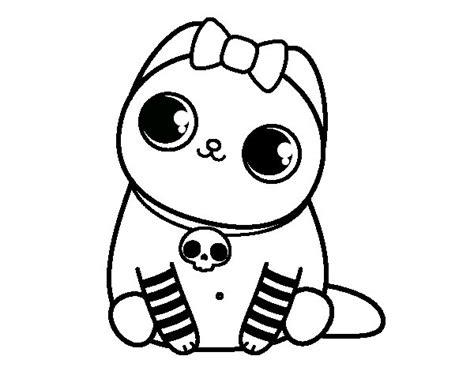 imagenes emo para colorear dibujo de gatito emo para colorear dibujos net
