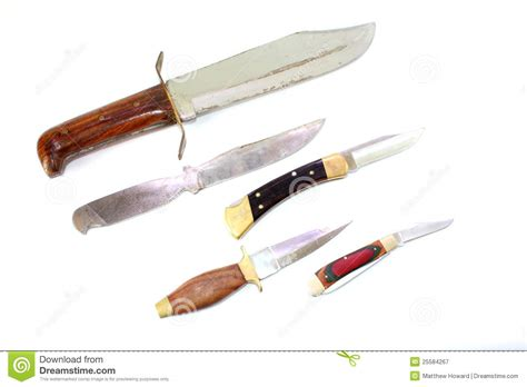 different types of pocket knives different knives royalty free stock photography image