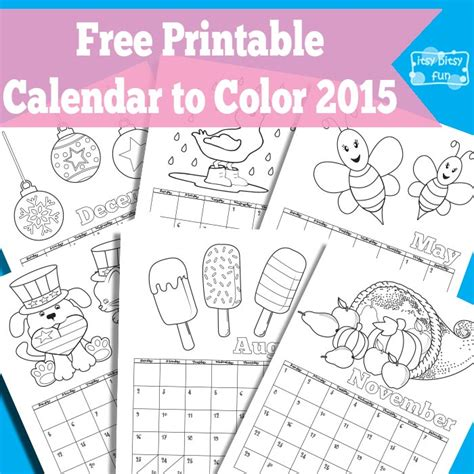 printable calendar 2015 fun free coloring pages of calendar kids 2015
