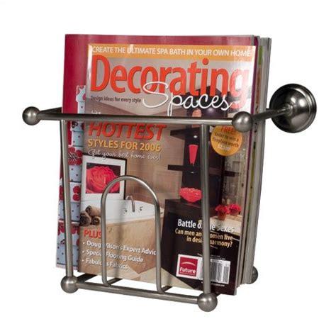 wall mount bathroom magazine rack satin nickel wall mount magazine rack clean d cloth 02