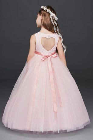 ball gown flower girl dress  cutout davids bridal