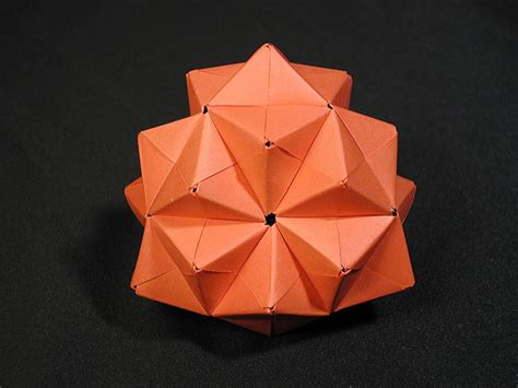 Origami Tetrahedron - truncated tetrahedron 1 modular origami flickr photo